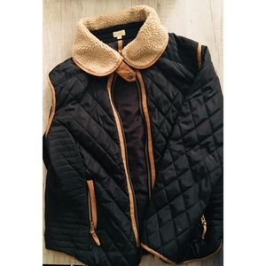 Cremieux Black and Brown Winter Coat